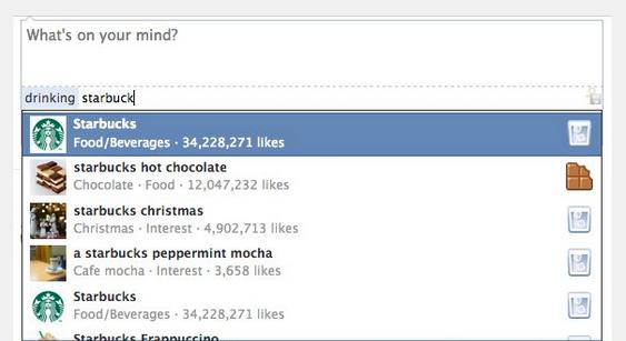 Facebook status emoticon