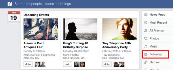 following feed facebook newsfeed redesign